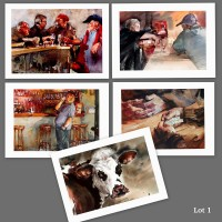 Lot 1 : cartes d'art imprimées