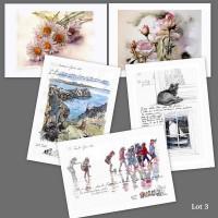 Lot 3 : cartes d'art imprimées