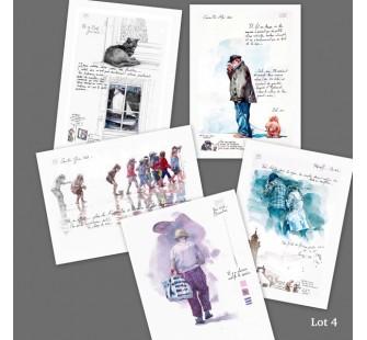 Lot 4 : cartes d'art imprimées