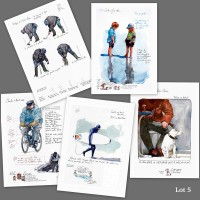 Lot 5 : cartes d'art imprimées