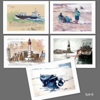 Lot 6 : cartes d'art imprimées